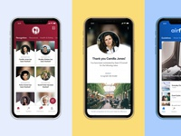 Redesigning Thrive's Mobile Experience internal comms employee app redesign mobile app design iphonex mobile app