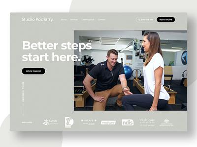 Studio Podiatry ui wordpress website web design web gold coast digital marketing design australia adobe xd