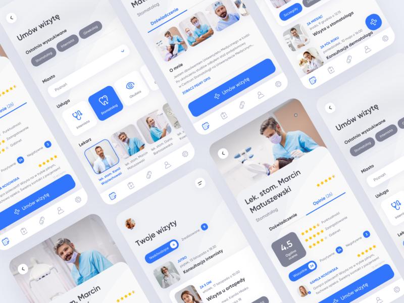 Medical mobile app medical care explorations concept mobile design 2020 creative clean app design medicine medical app