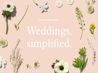 Weddings, simplified.