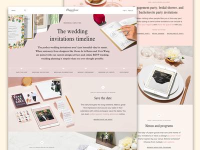 Wedding timeline page
