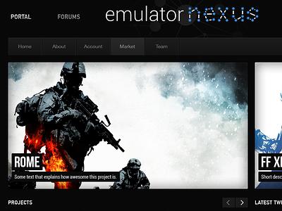 Modding Community Portal webdesign design web gaming games dark steam mods modding web design