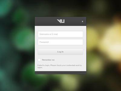 Login Dialog WIP ui design application windows login form button input