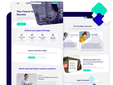 E learning Platform design home page services learning platform educational ui uidesign