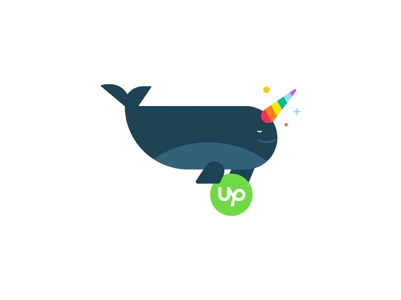 Upwork Pride Stickers vector design illustration