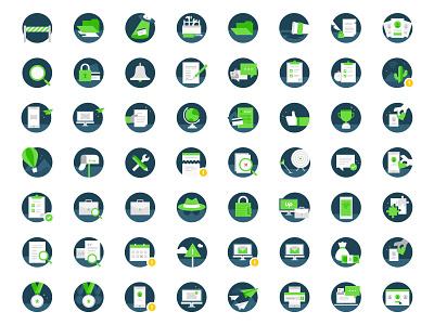 Icons for Upwork product illustration minimal flat web branding design icon vector