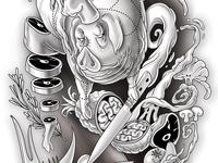 Chef Jono Custom Tattoo