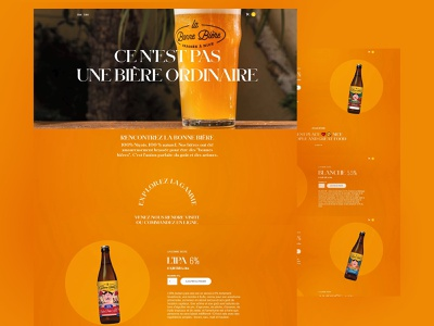 La Bonne Bière adobexd illustrator webflow adobe photoshop web design