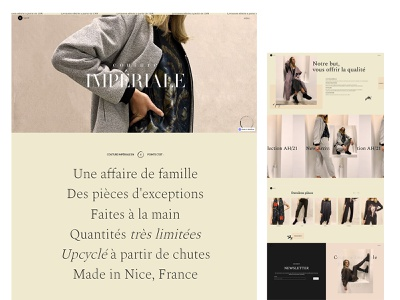 Couture Imperiale photoshop illustrator webflow web design