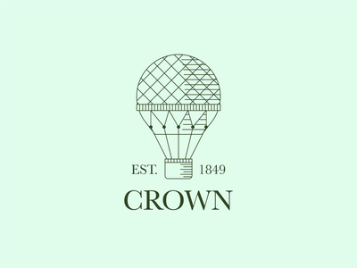 Daily logo challenge: 02 — Hot air balloon logolearn serif lineart vintage hotairballoon icon logodesign logo graphicdesign dailylogochallenge