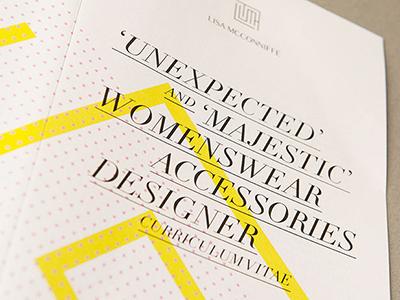 Lisa McConniffe Brand Identity shapes pattern geometric typographic womenswear elegant logo stationery folded fashion cv contemporary