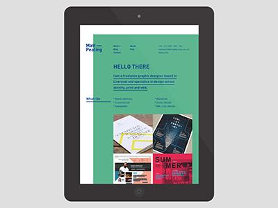Graphic designer self branding freelance liverpool typography contemporary blue green resume cv personalbranding selfbranding selfpromotion selfpromo
