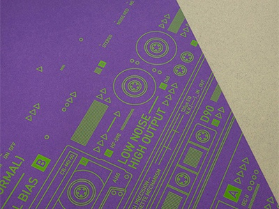 Mixtape Madness poster cassette retro poster vibrant typographic shapes music lines geometric experimental electronic complex