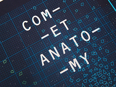 Comet Anatomy Poster poster infographic vibrant lines complex space astronomy information geometric typographic shapes contemporary