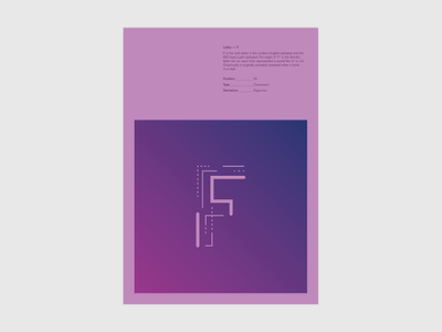 Type project / F