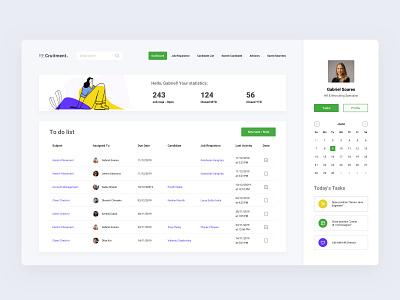 Applicant Tracking Solution - Design Concept desktop clean ui dashboad crm minimal flat clean web app ux ui design