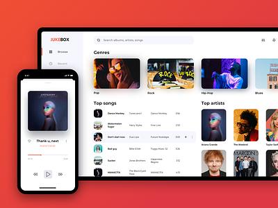Software for a Legendary Jukebox web product design design player music app music minimal flat clean app ui ux