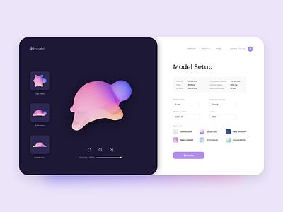 Saas web-platform for 3D Modeling 3dmodeling desktop crm clean ui web app minimal 3d flat clean ui ux design