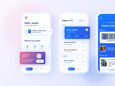 App for Booking Hospital Appointments android ios minimal covid19 flat design clean app ux ui mobile hospital healthcare