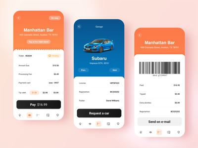 Parking Management System - Design Concept bright application clean ui ios minimal flat ui ux clean design barcode mobile parking