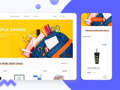 Shopping E-commerce Platform - Design Concept