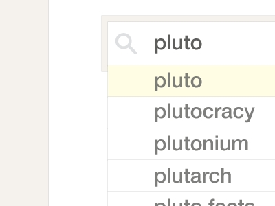 Pluto pluto ui search