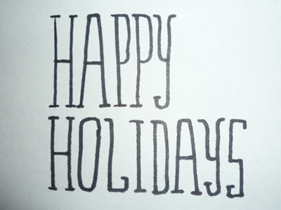 Dribbble 033 happy holidays christmas xmas animated gif hand-drawn type