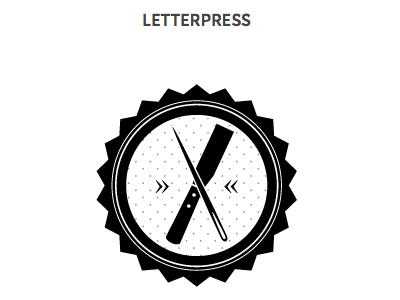 Letterpressbadge