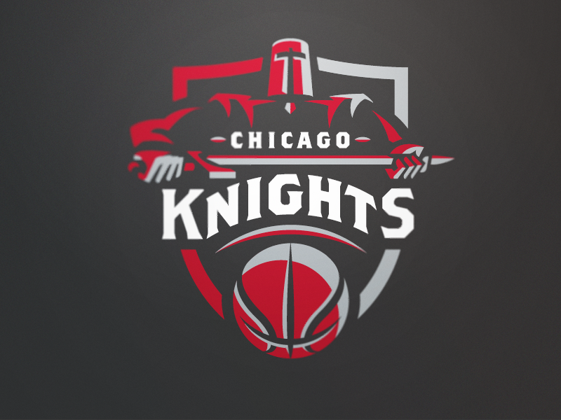 Chicago Knights Grey chicago basketball sports logo team