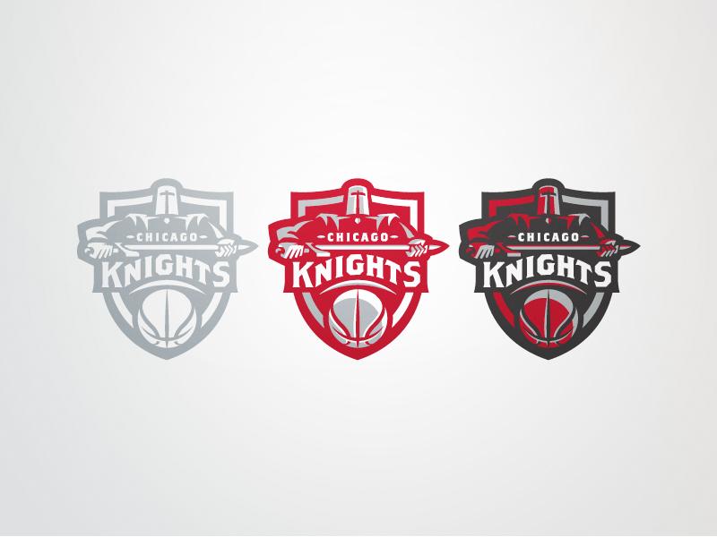 Chicago Knights Set chicago basketball sports logo team