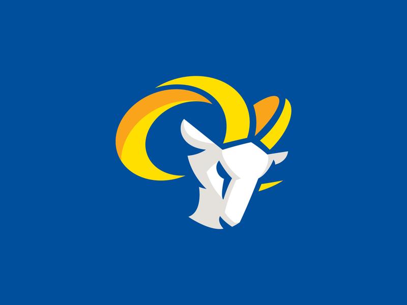 LA Rams branding design angeles los la logo rams
