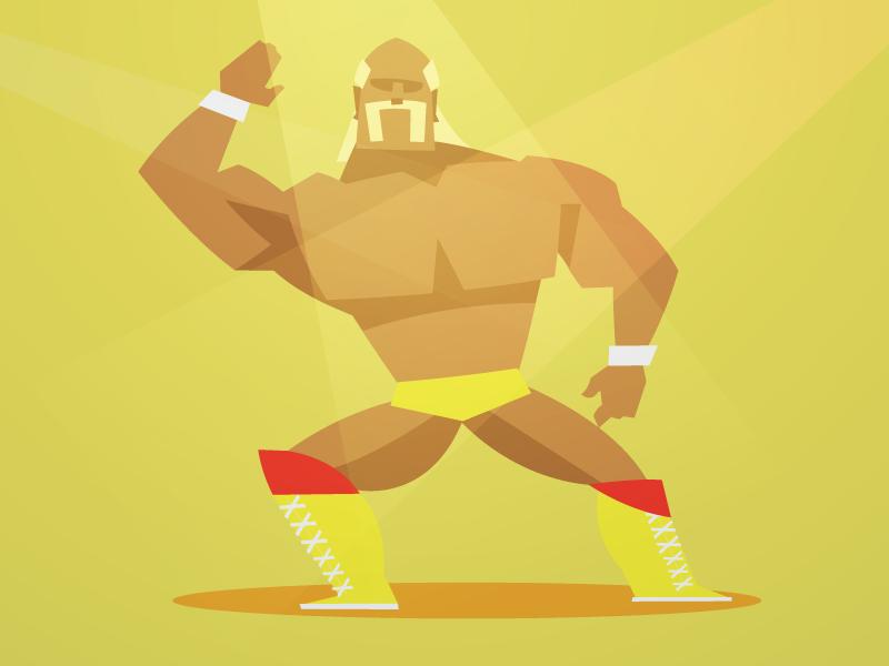 80 u0026 39 s wrestlers - hulk hogan by fraser davidson