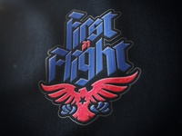 Embroidered Eagle flight in first logo eagle embroidery