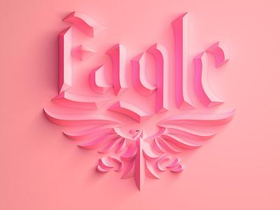 3D Eagle Logo 3d logo eagle