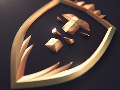3D Lion Logo 3d logo lion