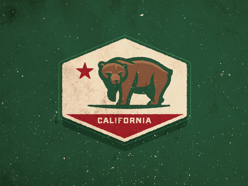 California Bear bear sports logo california
