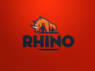 Rhino 2 rhino logo sports