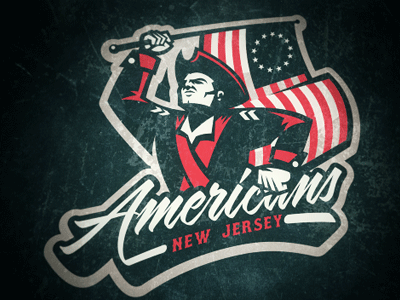 New Jersey Americans Logo Concept new jersey americans logo concept football