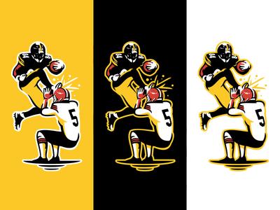 Antonio Brown sports logos athletics tutorials how to illustration branding