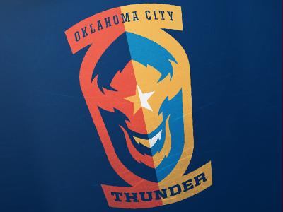 OKC Thunder okc oklahoma city thunder basketball logo brand sport