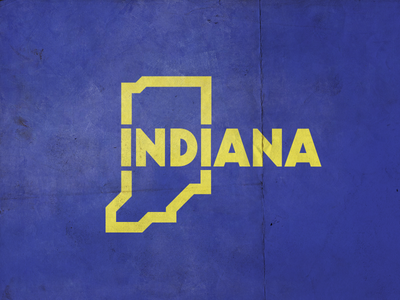 Indiana state outlines graphic united usa map indiana
