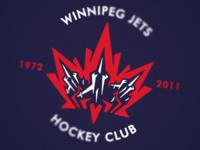 Winnipeg Jets Logo Blue