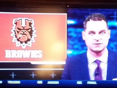 Well, that escalated quickly... cleveland ohio browns football nfl logo mascot