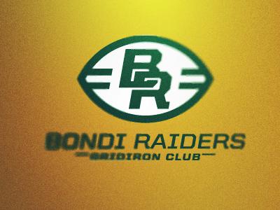 Bondi Raiders Logo Concept 2 bondi raiders logo concept sport american football australia gridiron