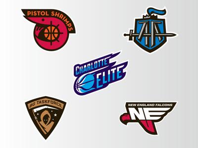 The Basketball Tournament Logos 5 logos basketball tbt