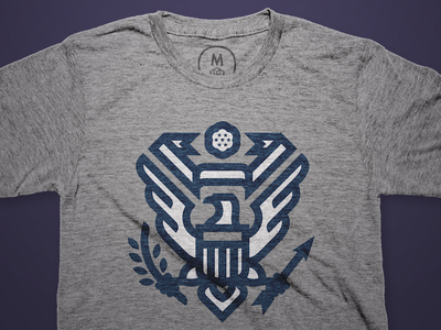 E Pluribus Unum on Cotton Bureau usa eagle t-shirt cotton bureau