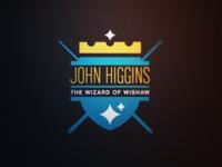 Snooker Logos: John Higgins 'The Wizard of Wishaw'