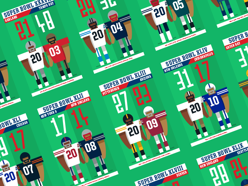 50 Years of Super Bowls bowl super nfl football american infographic