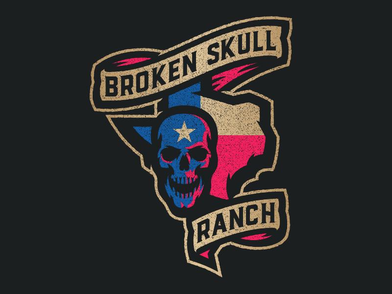 Broken Skull Ranch texas logo skull