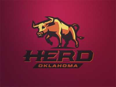 Herd Logo 2 herd cattle bull steer logo football sport